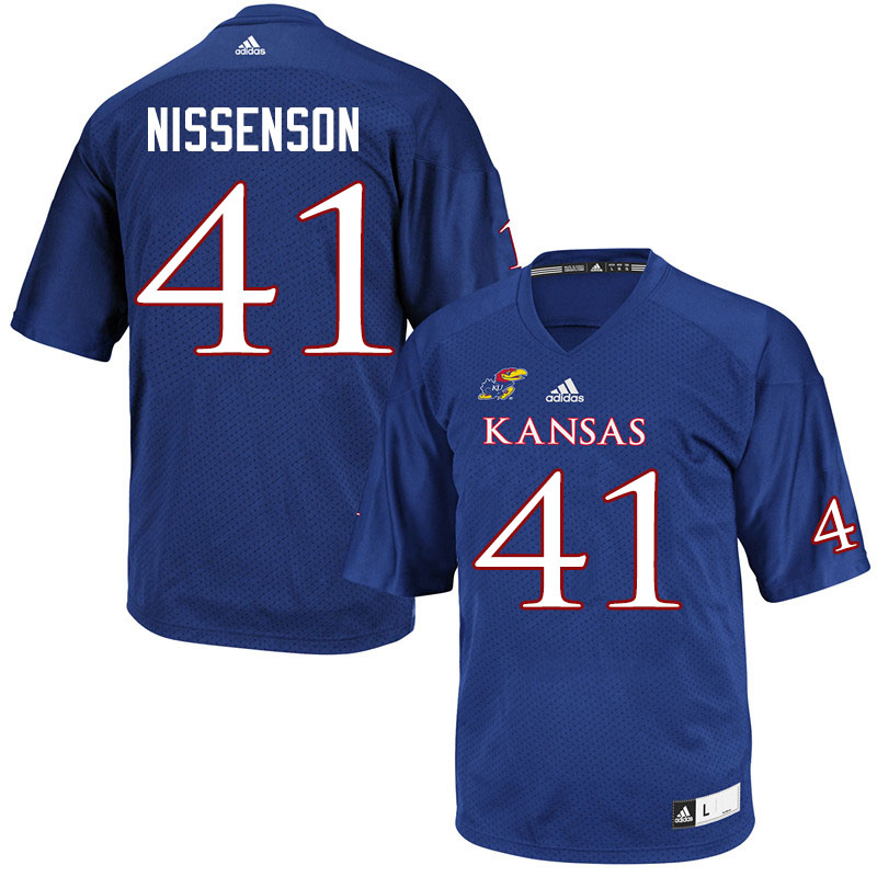 Men #41 Cameron Nissenson Kansas Jayhawks College Football Jerseys Sale-Royal