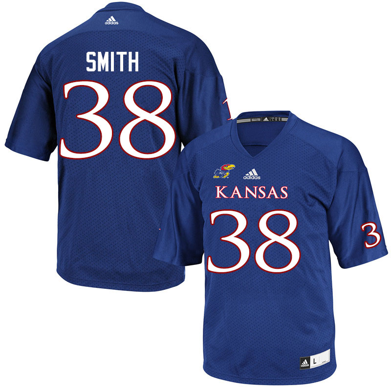 Men #38 Dante Smith Kansas Jayhawks College Football Jerseys Sale-Royal
