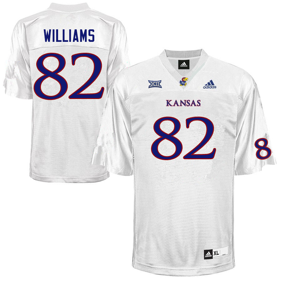 Men #82 Zach Williams Kansas Jayhawks College Football Jerseys Sale-White