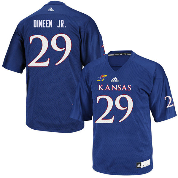 Men #29 Joe Dineen Jr. Kansas Jayhawks College Football Jerseys Sale-Royal
