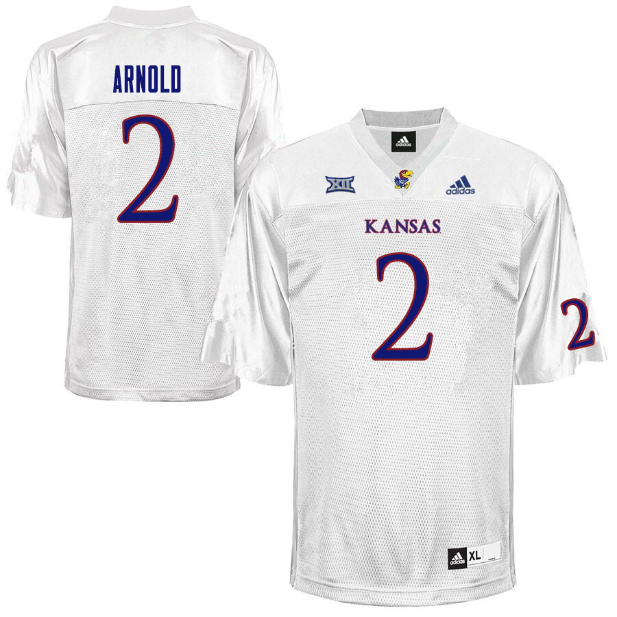 Men #2 Lawrence Arnold Kansas Jayhawks College Football Jerseys Sale-White