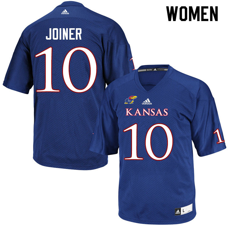 Women #10 Jamarye Joiner Kansas Jayhawks College Football Jerseys Sale-Royal