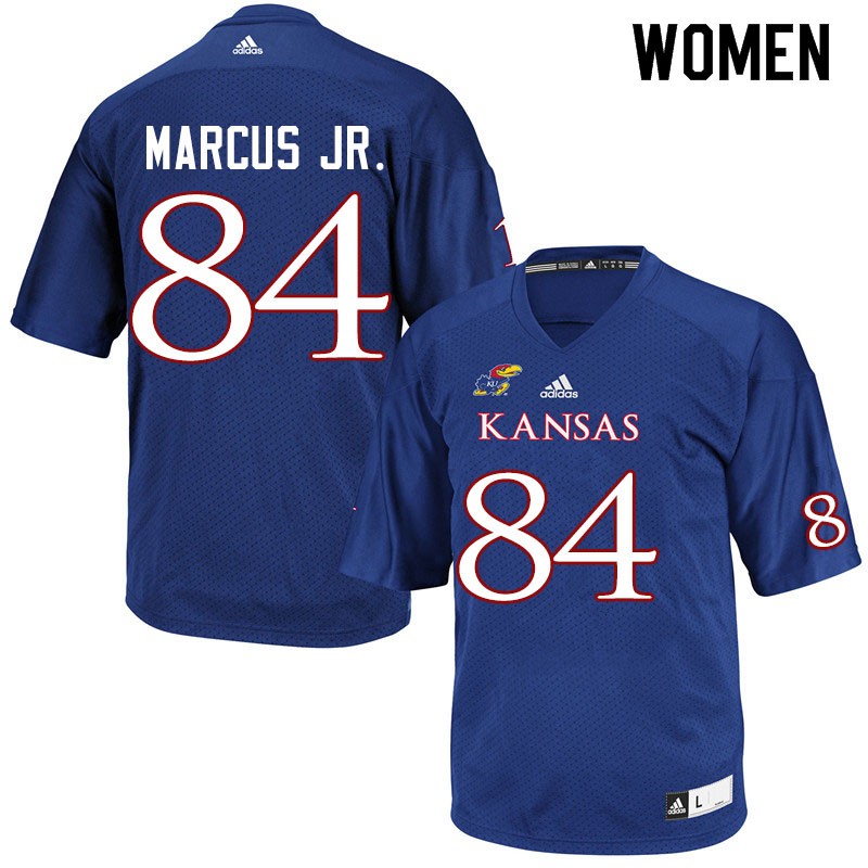 Women #84 Thomas Marcus Jr. Kansas Jayhawks College Football Jerseys Sale-Royal