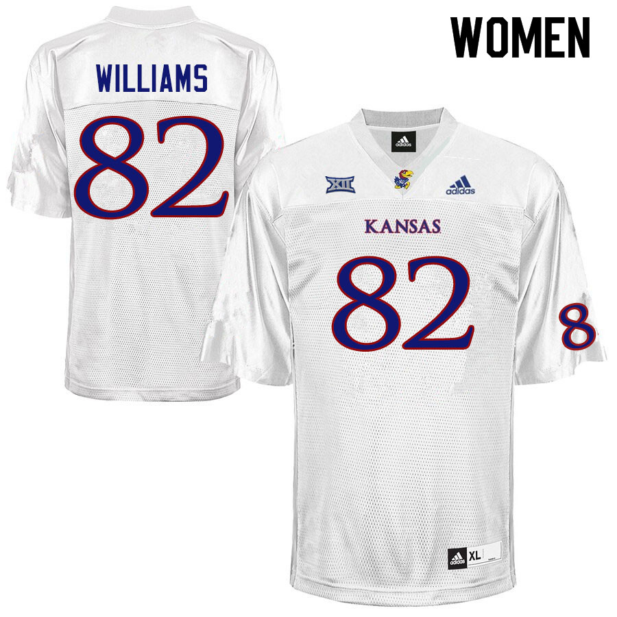Women #82 Zach Williams Kansas Jayhawks College Football Jerseys Sale-White