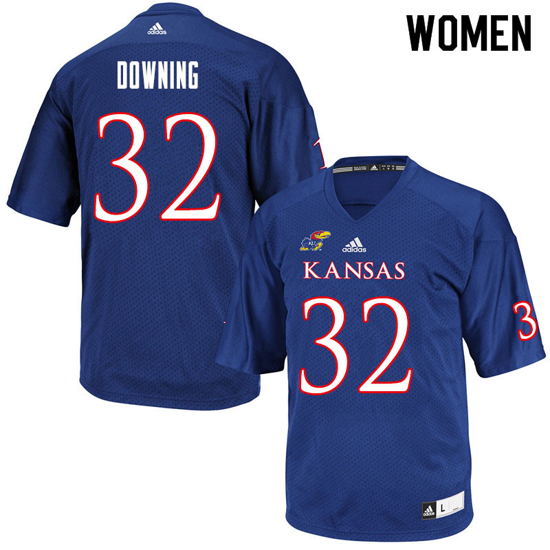 Women #32 Dylan Downing Kansas Jayhawks College Football Jerseys Sale-Royal