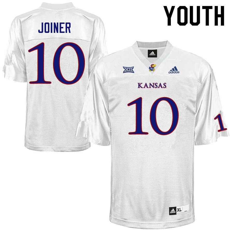 Youth #10 Jamarye Joiner Kansas Jayhawks College Football Jerseys Sale-White
