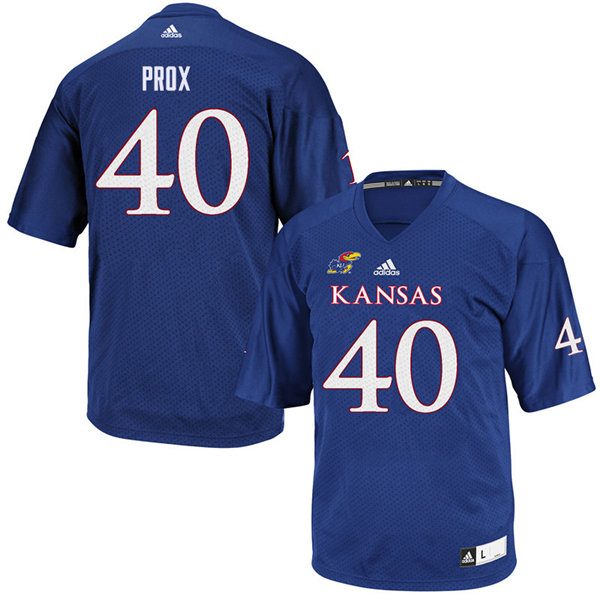 Youth #40 Dru Prox Kansas Jayhawks College Football Jerseys Sale-Royal