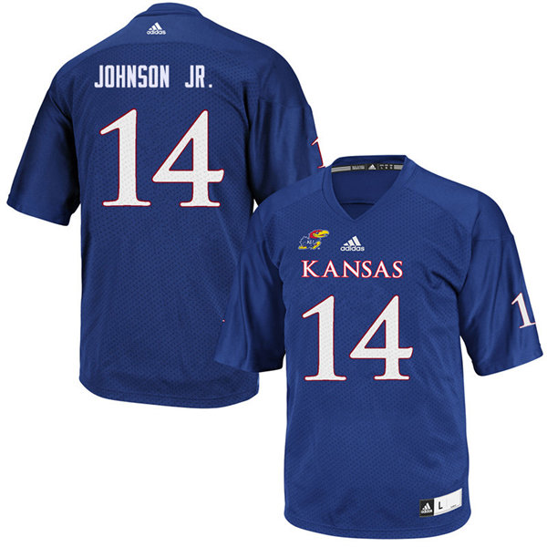 Youth #14 Kerr Johnson Jr. Kansas Jayhawks College Football Jerseys Sale-Royal