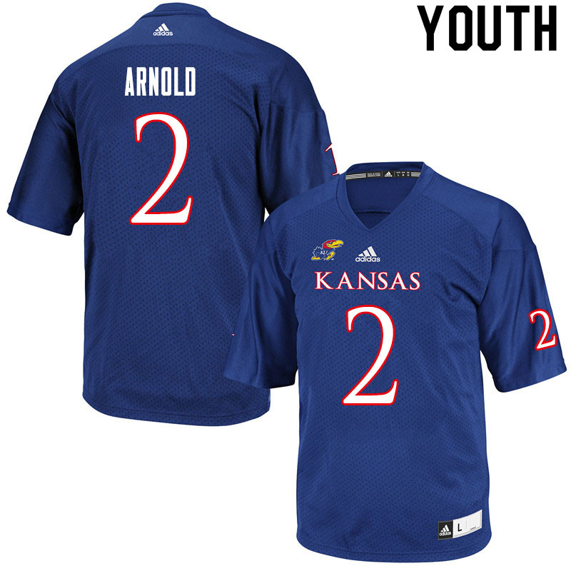 Youth #2 Lawrence Arnold Kansas Jayhawks College Football Jerseys Sale-Royal