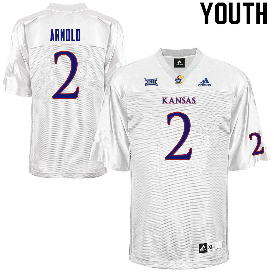 Youth #2 Lawrence Arnold Kansas Jayhawks College Football Jerseys Sale-White