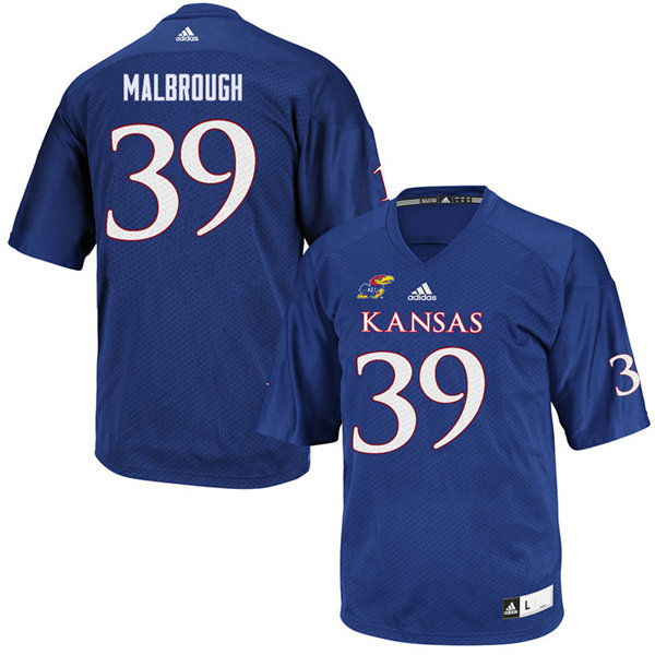 Youth #39 Ryan Malbrough Kansas Jayhawks College Football Jerseys Sale-Royal
