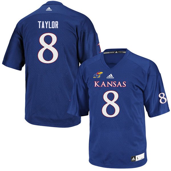 Youth #8 Shakial Taylor Kansas Jayhawks College Football Jerseys Sale-Royal